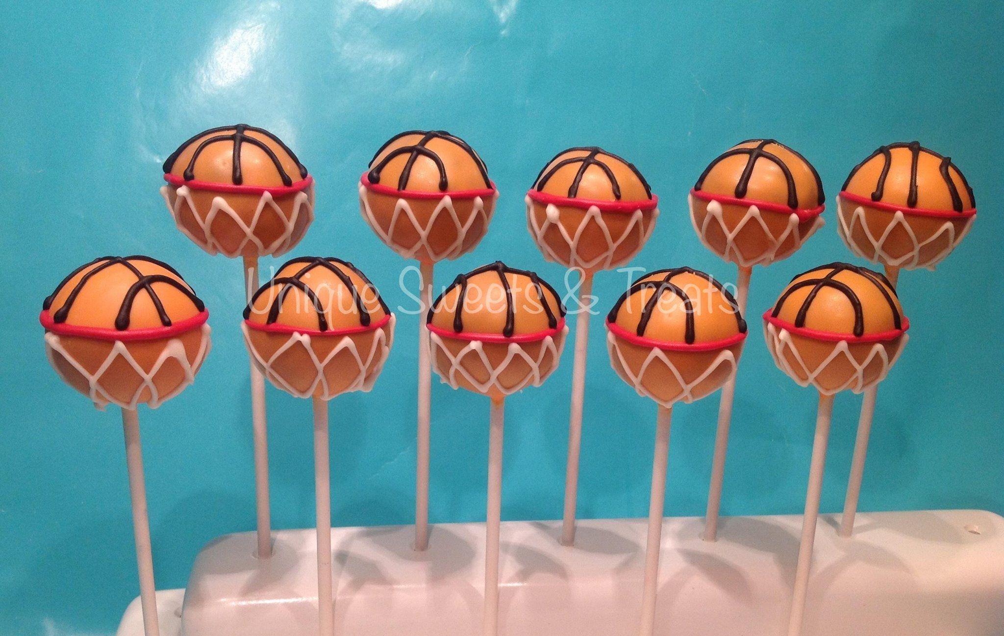 Basketball cake pops amazing cake pops pinterest