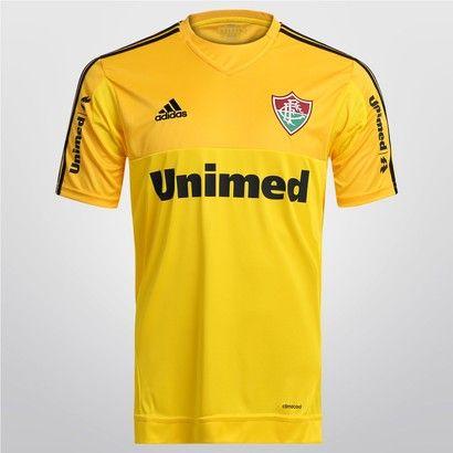 Camisa Adidas Fluminense I Goleiro 14 15 s nº - Amarelo  41e40ea20e892