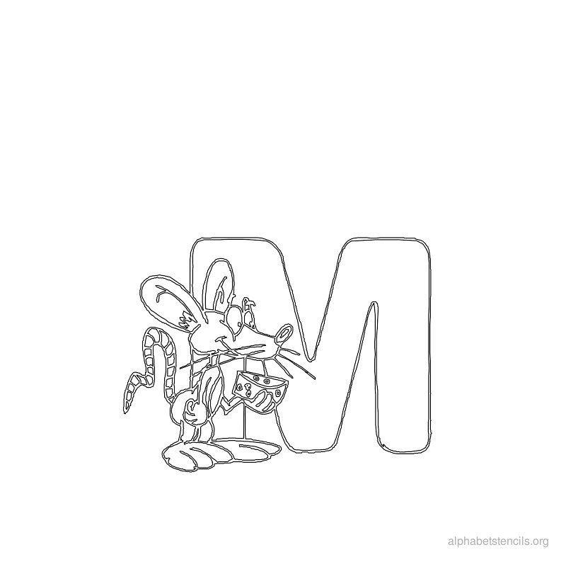 Print Free Alphabet Stencils Animal M  Lettering