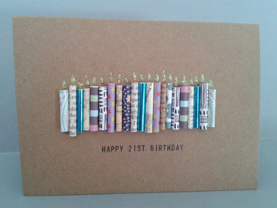 Happy 21st Birthday Candle Card Personalised 21 Today By GurdGifts 390