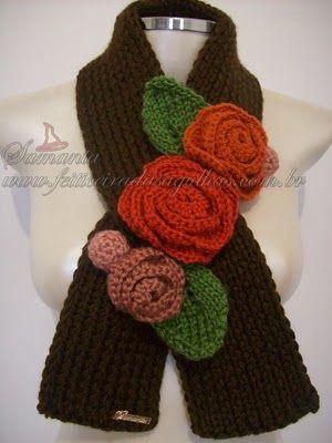 de bufandas y collares | bufandas dama | Pinterest | Handarbeiten