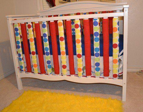 Robot Check Crib Liners Design Traditional Cribs