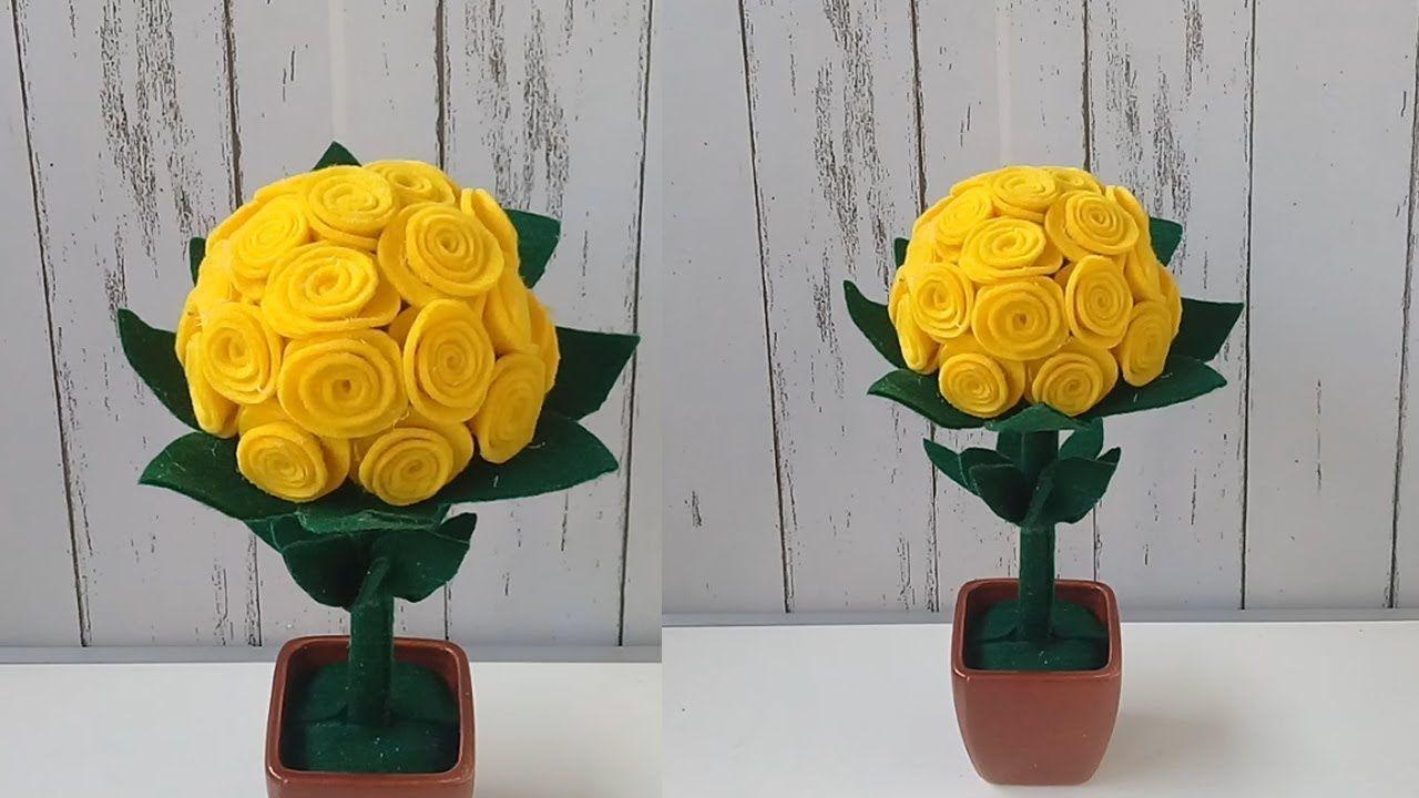 Cara Membuat Hiasan Mawar Cantik dari Flanel dan Barang