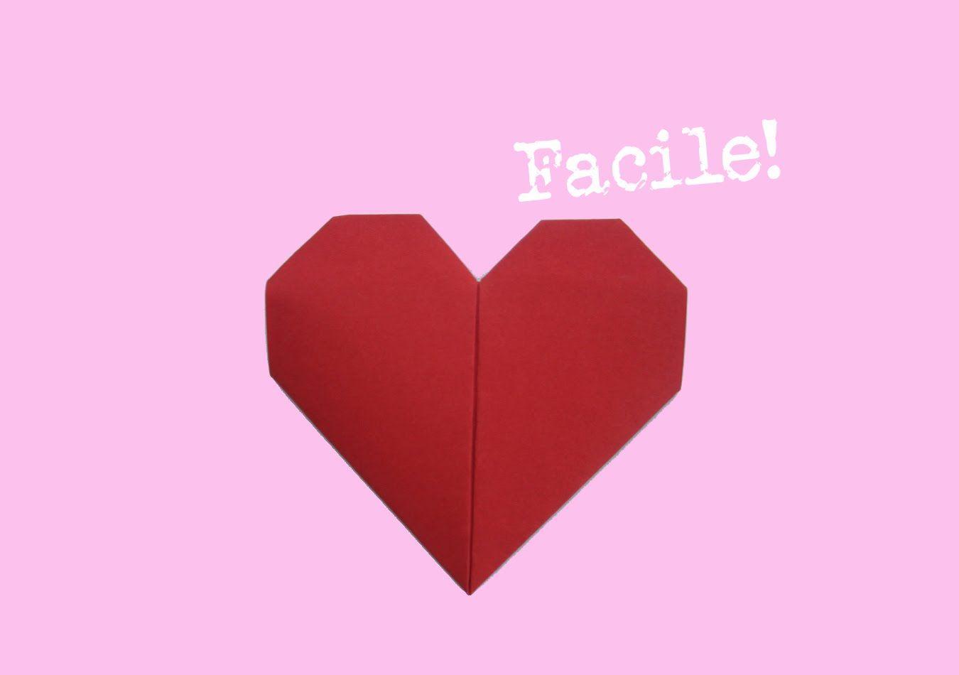 pliage coeur en papier - d'origami - facile - explication