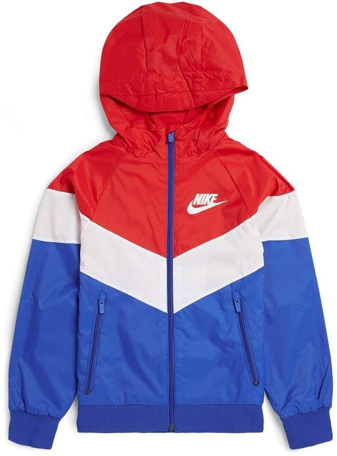 Jaqueta Corta Vento Nike Sportwear Color Block Masculina Preto e Branco