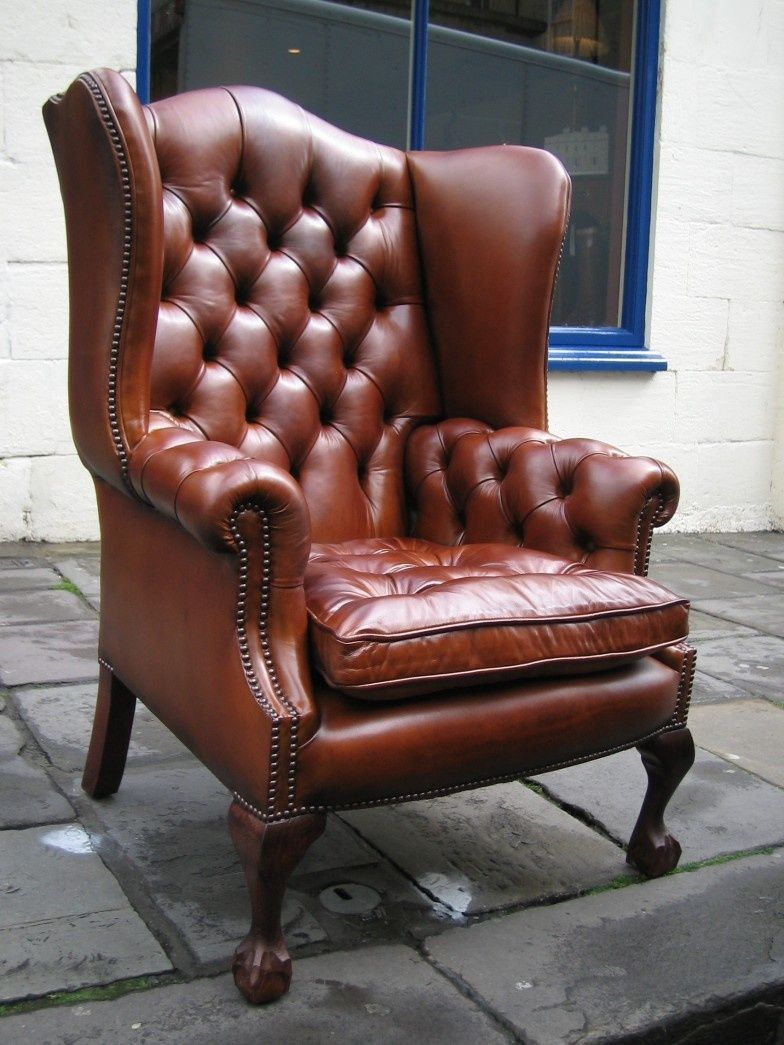 The Special High Back Georgian Leather Wing Chair with ...