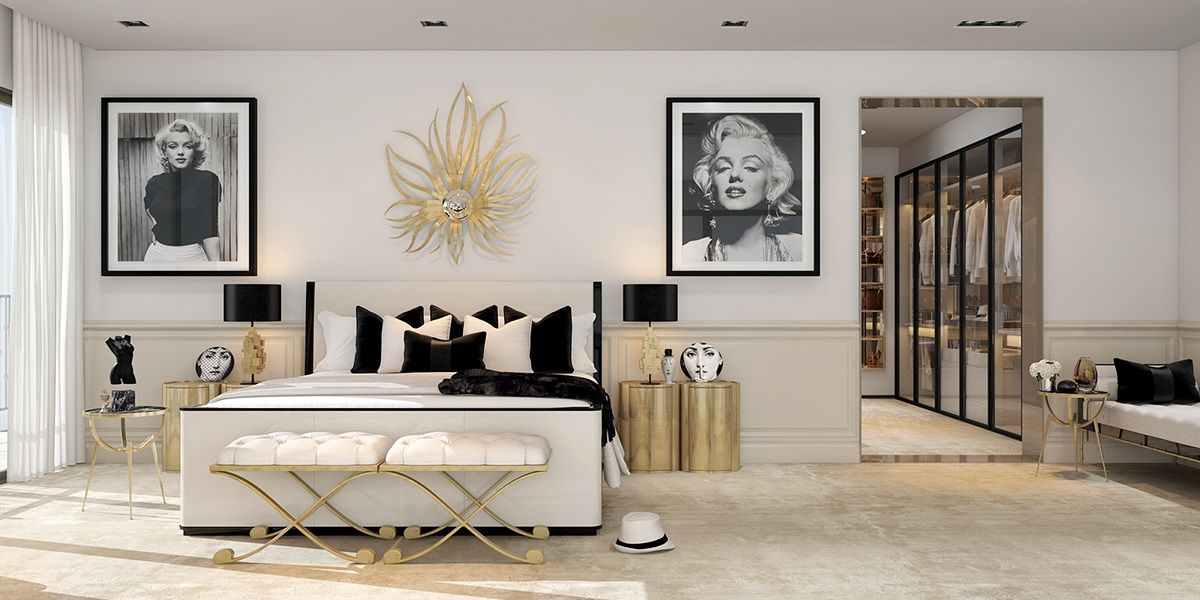 A Modern Art Deco Home Visualized In Two Styles Art Deco Bedroom