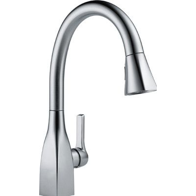 Delta Mateo Single Handle Deck Mounted Kitchen Faucet Finish: Arctic Stainless