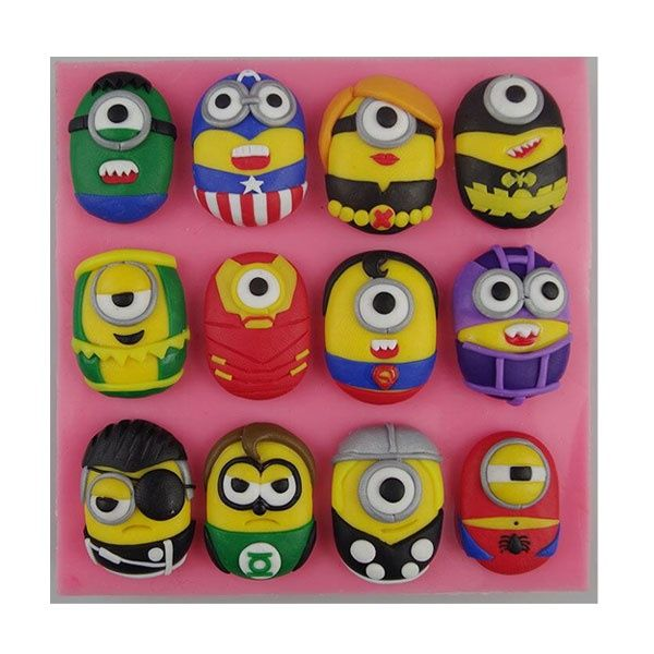 Mini Minion Silicone mould 12 Styles Bakeware