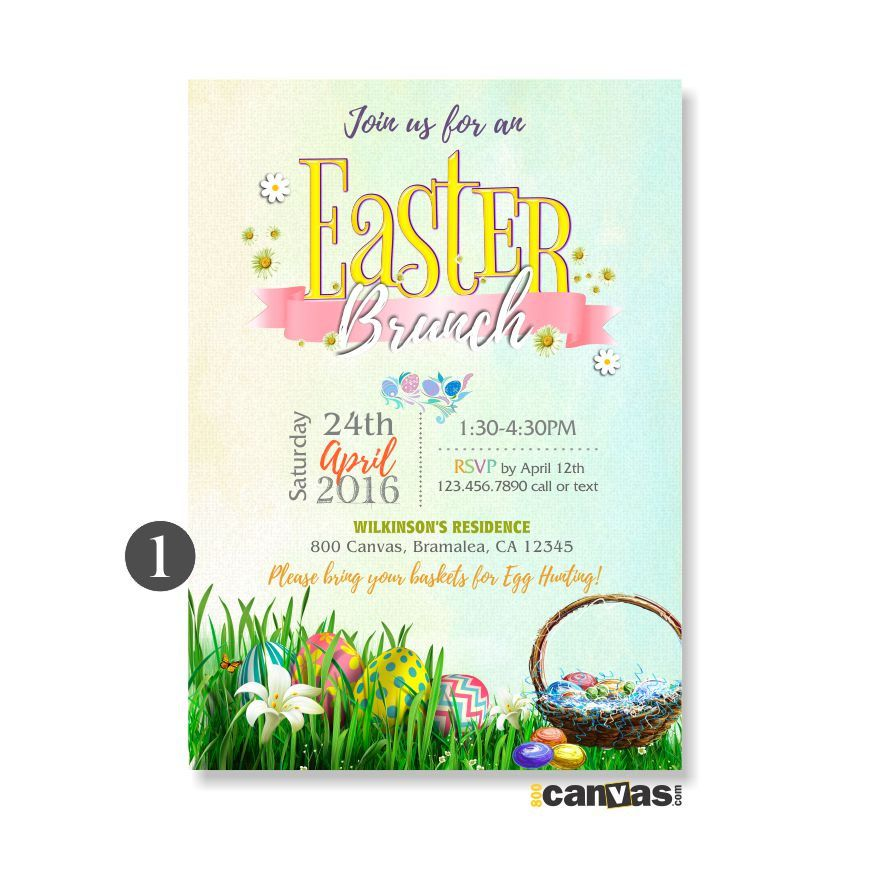 EASTER Brunch. EASTER Party Invitations. EASTER Invitation. Easter Birthday Invite. Egg Hunt Birthday. Easter Tea Party. Baby Shower 323 by 800Canvas on ...