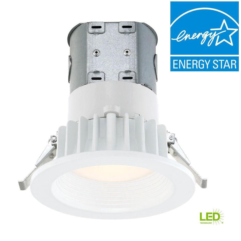 Envirolite Easy Up 4 In White Integrated Led Recessed Kit