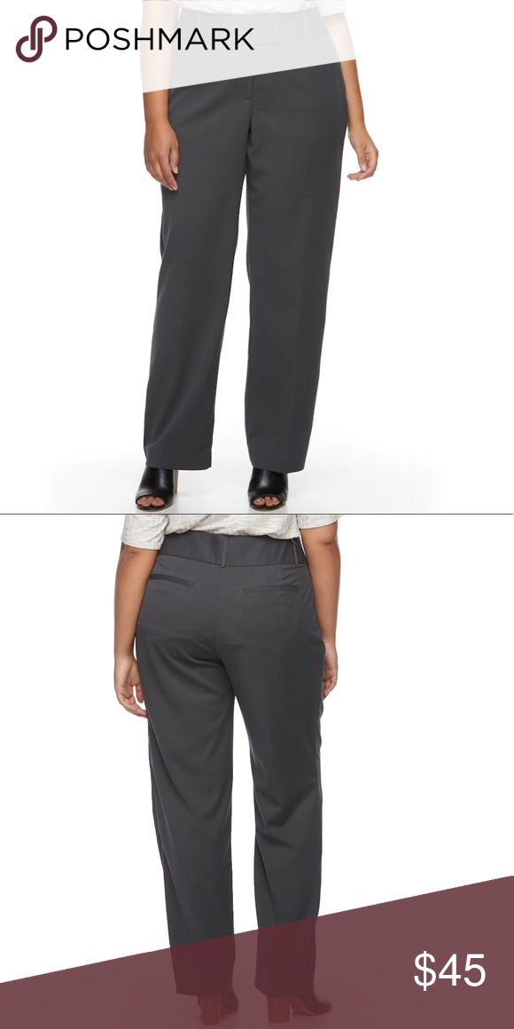 32ceee091afdd Plus Size APT. 9 Modern Fit Wide-Leg Dress Pants Simply comfortable. These