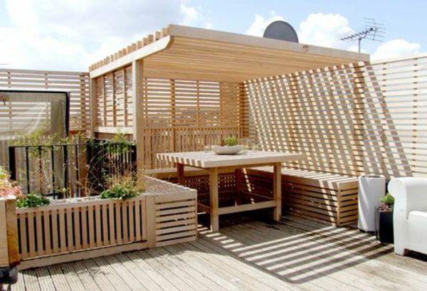 terrassenüberdachung aus holz schönes ambiente,