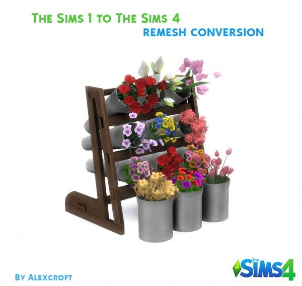 mod the sims flower display by alexcroft sims 4 downloads sims 4 furniture sims sims 4. Black Bedroom Furniture Sets. Home Design Ideas