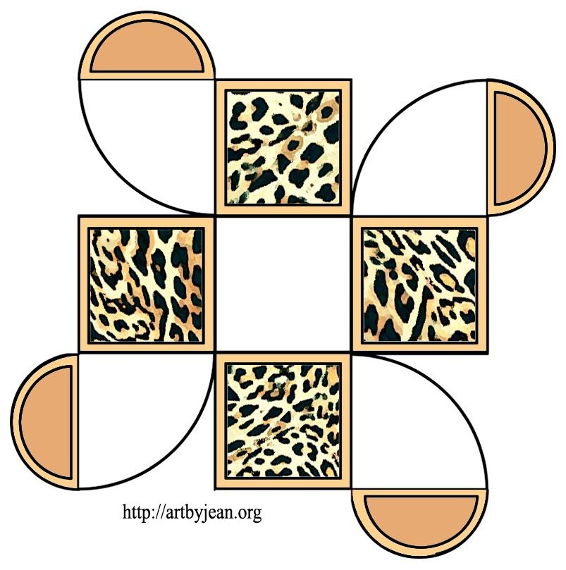 Printable Leopard Cube Shaped Box   Parties Jolly Jungle