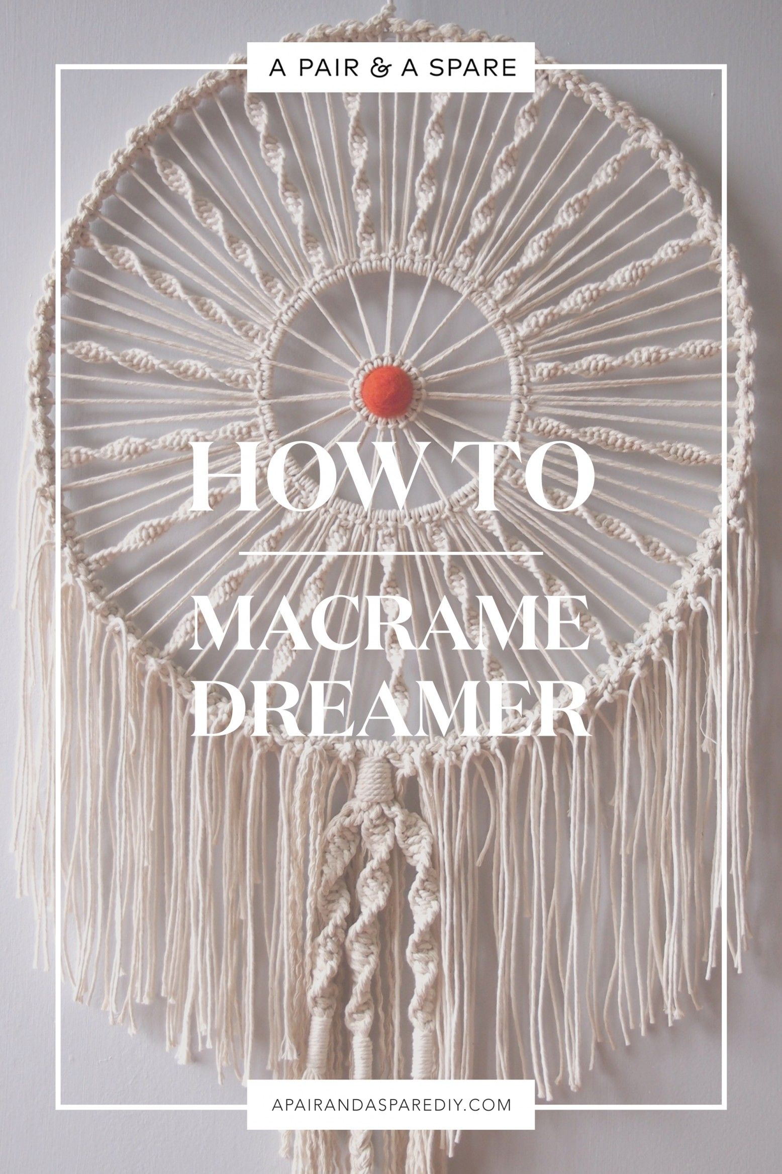 How To Macrame Dreamer Knot Tied Makramee Knoten Makramee