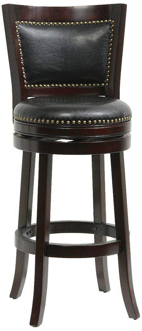 Boraam 42829 Bristol Bar Height Swivel Stool 29inch Cappuccino