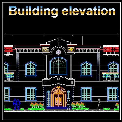 Download building elevation facade design drawings now for Residential building drawings download