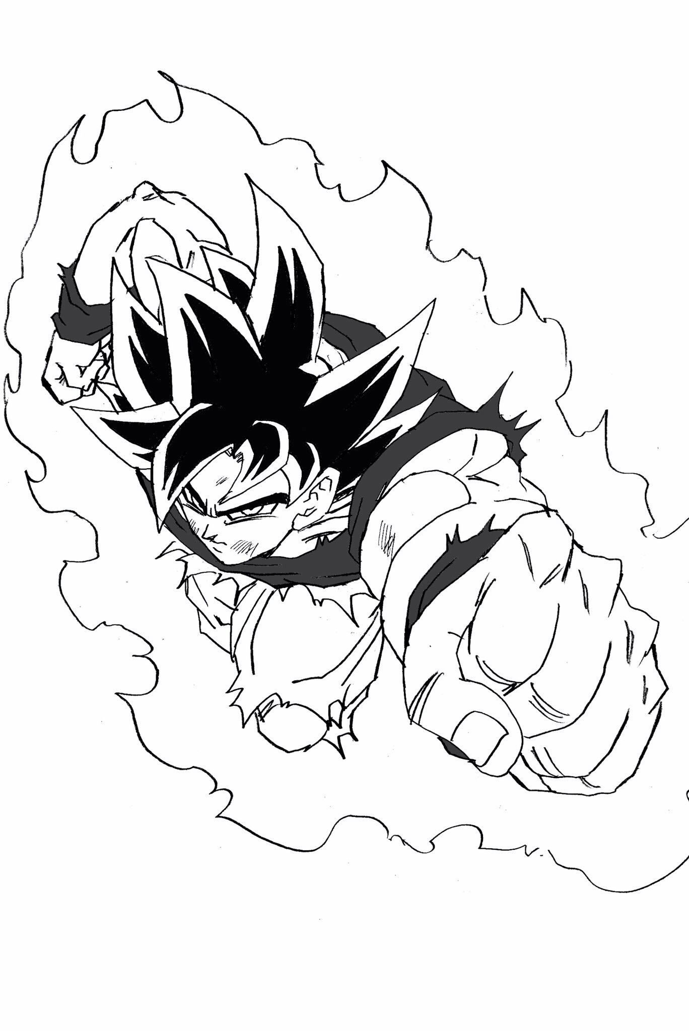 UI Goku sketch | Dragonball Series | Pinterest | Goku, Dragon ball ...
