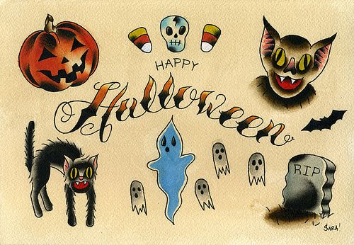 Halloween Tattoos (by Sara Antoinette Martin)