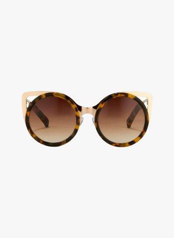 Linda Farrow X Erdem  Cat Eye Tortoise Shell Sunglasses