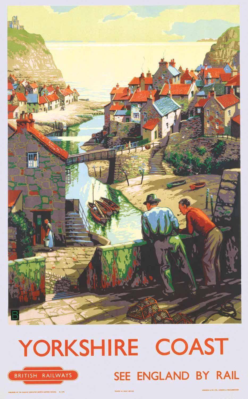 Staithes 223 Vintage Railway Art Poster
