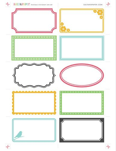 Printable Labels These Can Be Printed On Any Business Card Paper That S Compatible With Avery Templates Or Full Size Adhesive Heavyweight