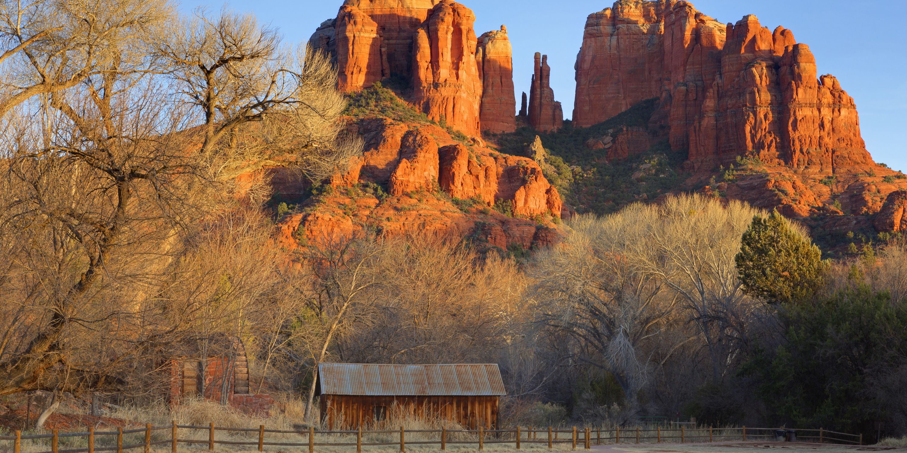 Also known as Route 179, the Red Rock Scenic byway is a little 7.5-mile slice of desert heaven that starts in Sedona, Arizona and runs south, ending at Interstate 17 near Rimrock. You'll pass through the stunning scenery of the Coconino National Forest, with plenty of opportunities to pull over and take in the beauty of the towering, prehistoric Red Rocks. In addition to hiking trails (try West Fork, touted as the most scenic hike in Sedona) you can fill your adventure quota on a