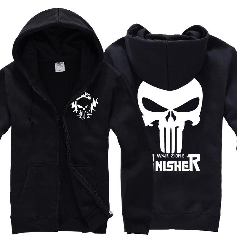 Click to Buy    Punisher Skull hoodie autumn winter Cardigan zipper coat Sweatshirts  men  Affiliate.    9f7d095b7