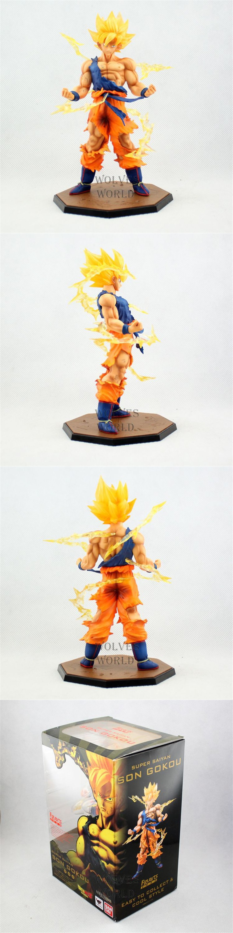 Anime Dragon ball z Super Saiyan Goku action toy figures pvc kids