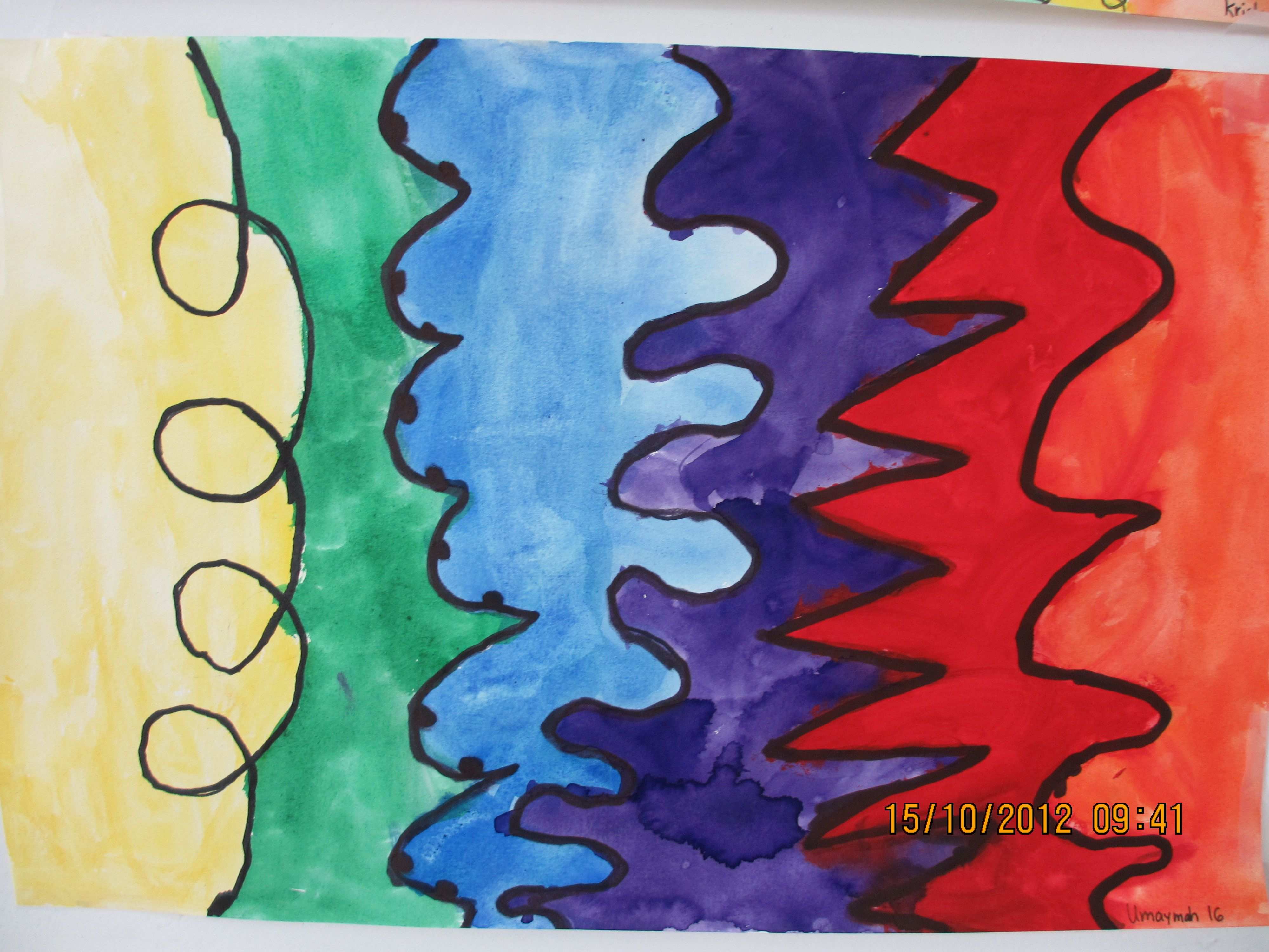 What Are The Different Elements Of Art : Elements of art lesson line different kinds lines