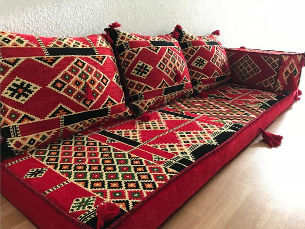 Orientalische Sitzecke Sofa Bodenkissen Sitzgruppe Sitzkissen Kelim Sitzkissen Decor Home Decor Home
