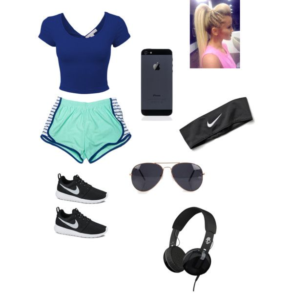 Going for a jog by saylorfashions on Polyvore featuring polyvore, fashion, style, NIKE, Skullcandy and NLY Accessories
