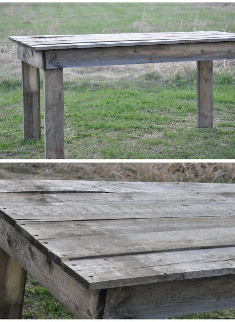 diy wood table-I am def making this for my patio!! I already have the wood for it and all.