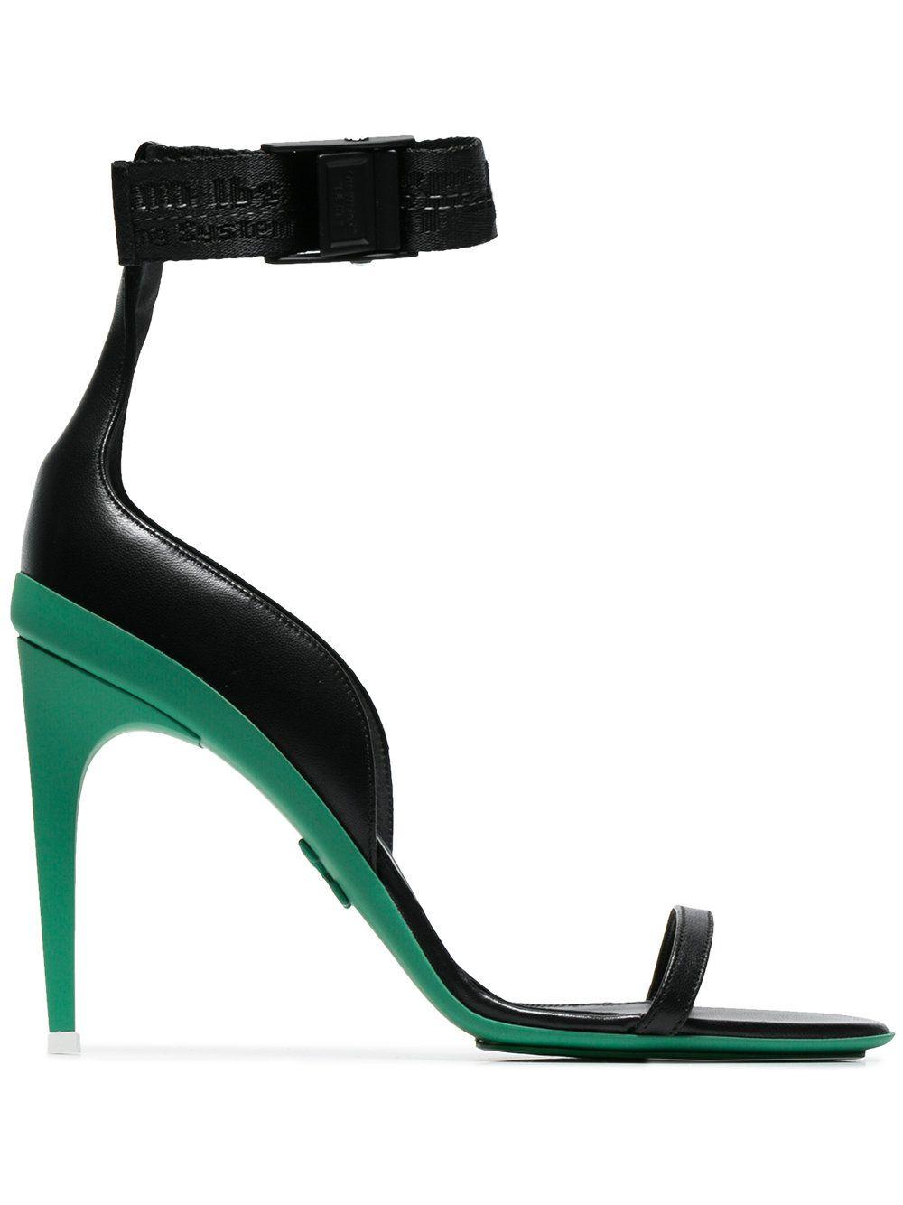 Off-White Black Logo Strap Sandals N90mcbdelz