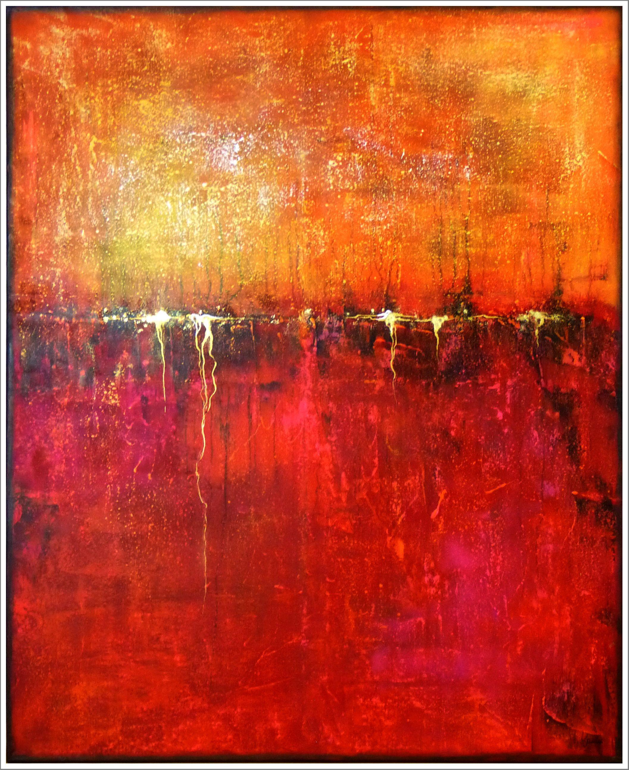 stella hettner oriental nights 80x100 malerei kunst abstrakte leinwand moderne acryl auf