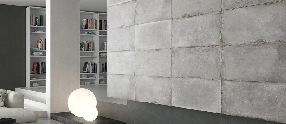 Large Concrete Tiles Cement Tech Wall Tiles Industrial Effect Tile Large Concrete Look Floor Tiles Concrete Tile Floor Flooring Modern Flooring