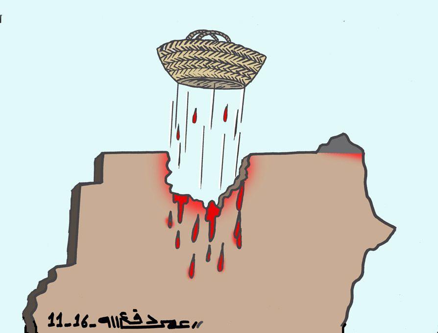 كاركاتير اليوم الموافق 12 نوفمبر 2016 للفنان  عمر دفع الله عن الدستور السودانى