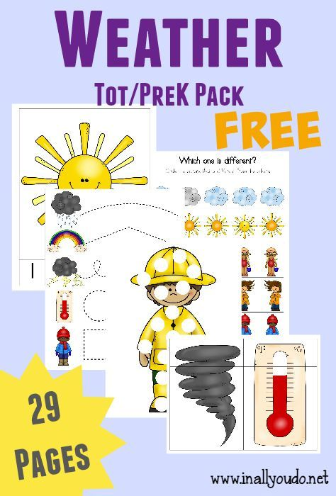 Ideas To Teach Weather To Preschoolers Free Weather Tot Prek K Pack Preschool Weather Weather Activities Preschool Weather Crafts Preschool lesson plan ideas for weather
