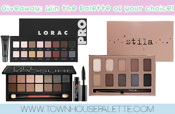 Giveaway! WIN THE EYESHADOW PALETTE OF YOUR CHOICE:)