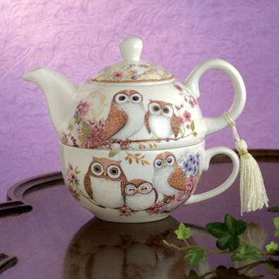 Owl Tea for One Set | Bits and Pieces