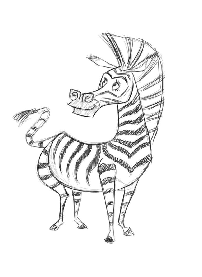 12 Pics Of Marty The Zebra Coloring Pages