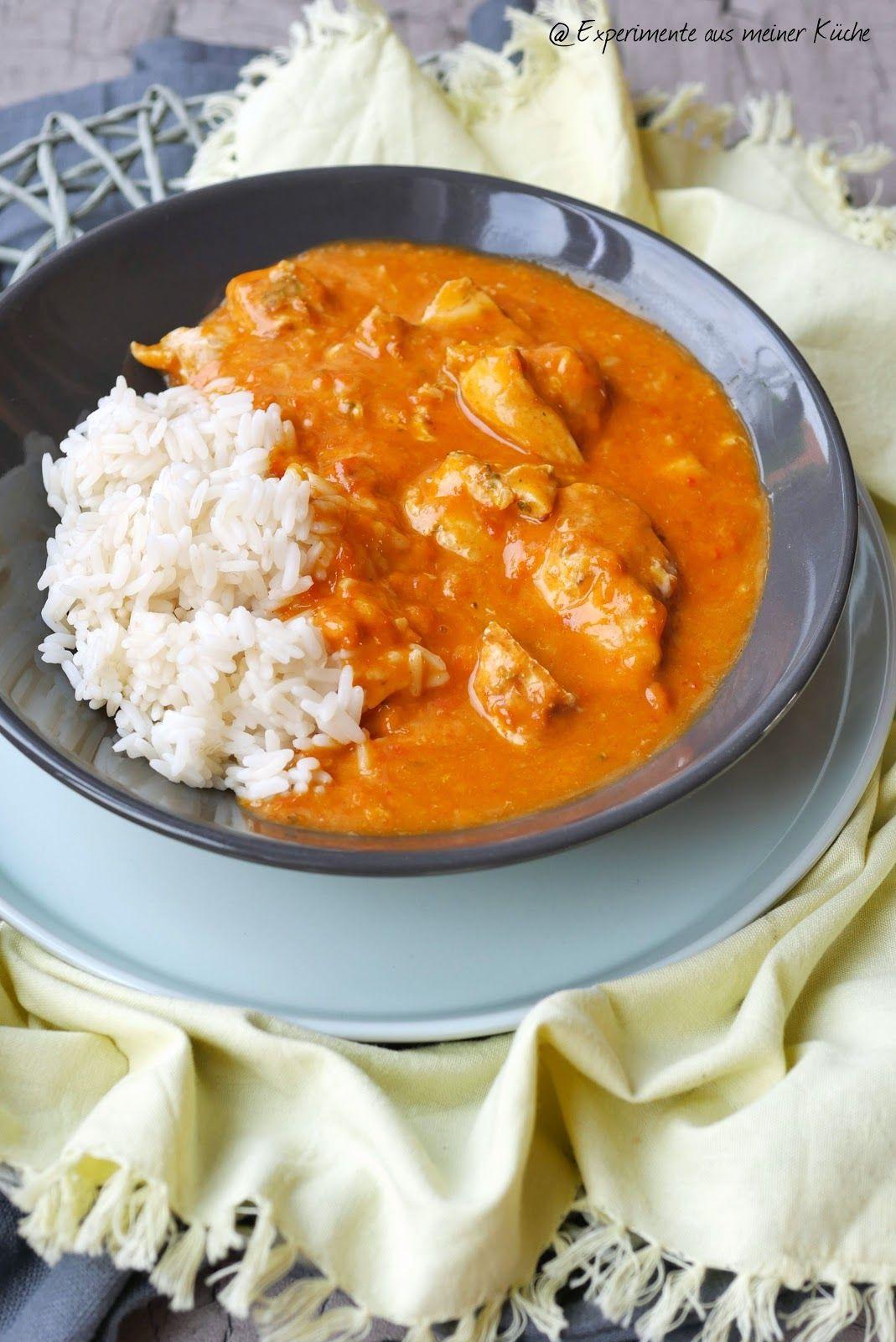 Leichtes Paprika-Sahne-Hähnchen #healthyshrimprecipes