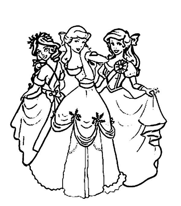 Imagini pentru desene de colorat cu printese | Prințese ...