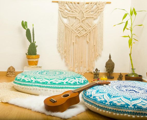 Meditation Cushion Poufs Floor Cushion Seating Floor Pillow   pouffe ...