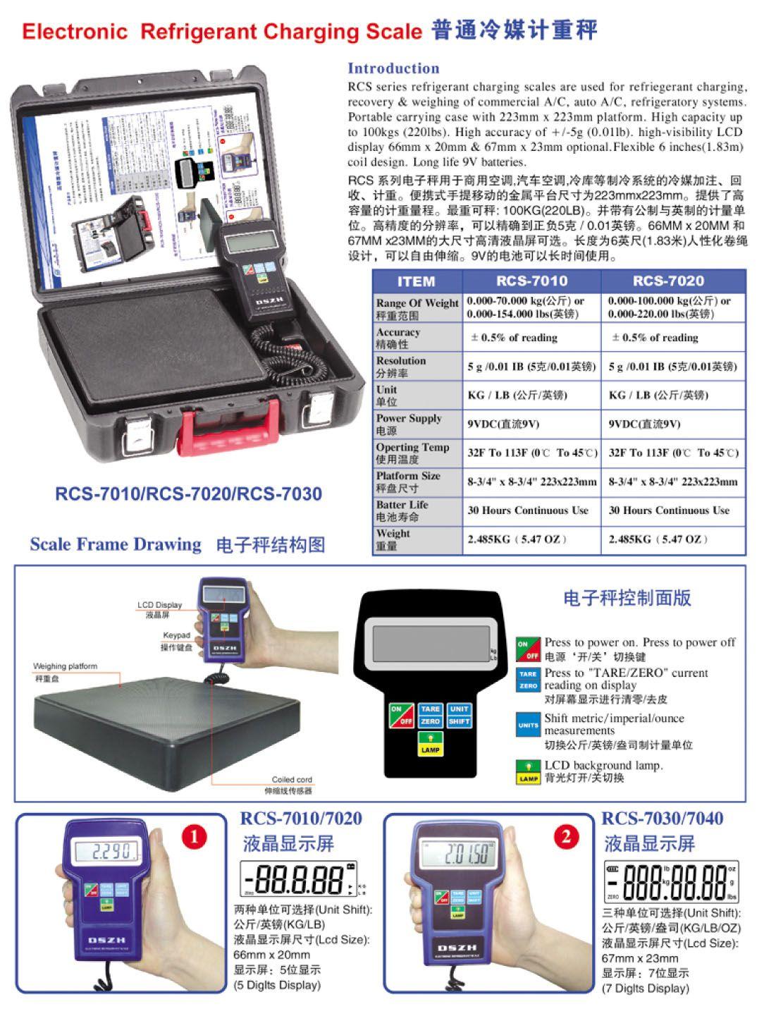 Refrigerant Charging Scale Air conditioner parts, Hvac