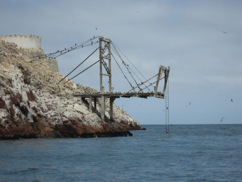 Vista Mas Cercana Del Embarcadero Del Guano De Islas En