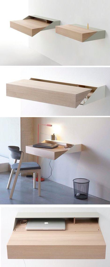 Clever Folding Desk | Ideas For The House | Pinterest | Folding Desk, Desks  And Clever