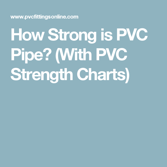 How Strong is PVC Pipe? (With PVC Strength Charts)  sc 1 st  Pinterest & How Strong is PVC Pipe? | Pinterest | Pvc pipe Pipes and Chart