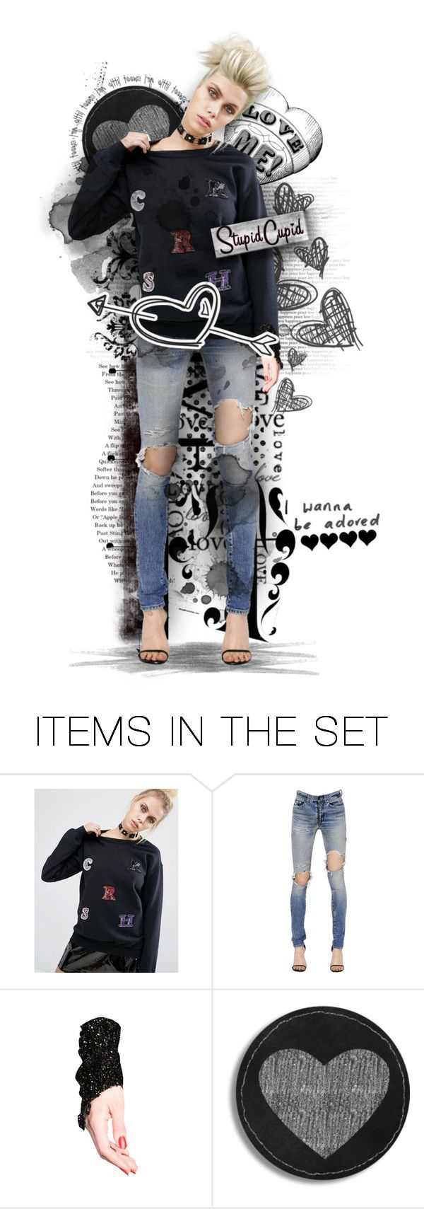"""Stupid Cupid"" by mycau ❤ liked on Polyvore featuring art"